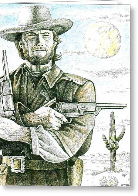 Outlaw Josey Wales Greeting Card by Bern Miller