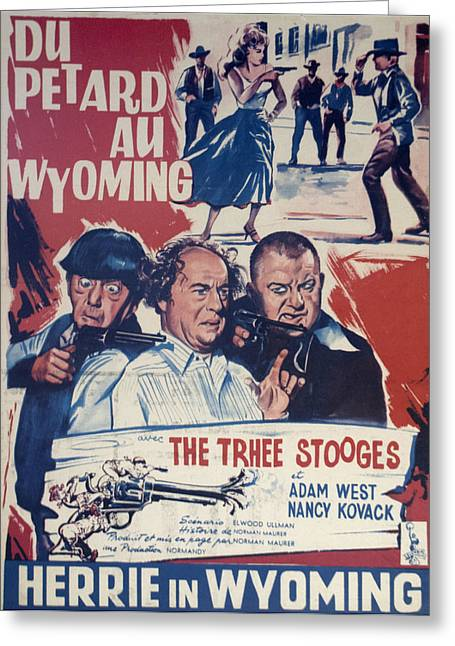 Outlaws Is Coming Greeting Card by Official Three Stooges