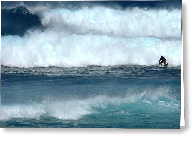 Outrunning The Wave Greeting Card