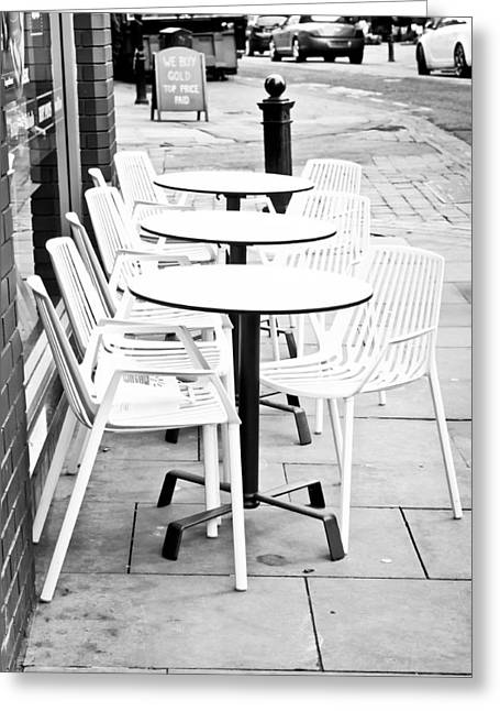 Outside Cafe Greeting Card