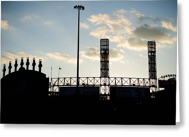 Outside Comiskey Park Greeting Card