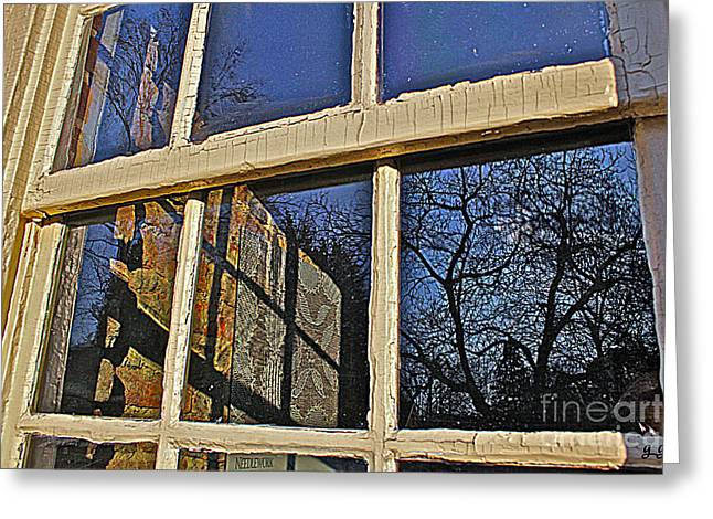 Greeting Card featuring the photograph Outside In by Geri Glavis