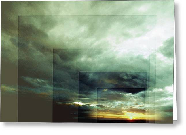 Outside Insight Greeting Card by Florin Birjoveanu
