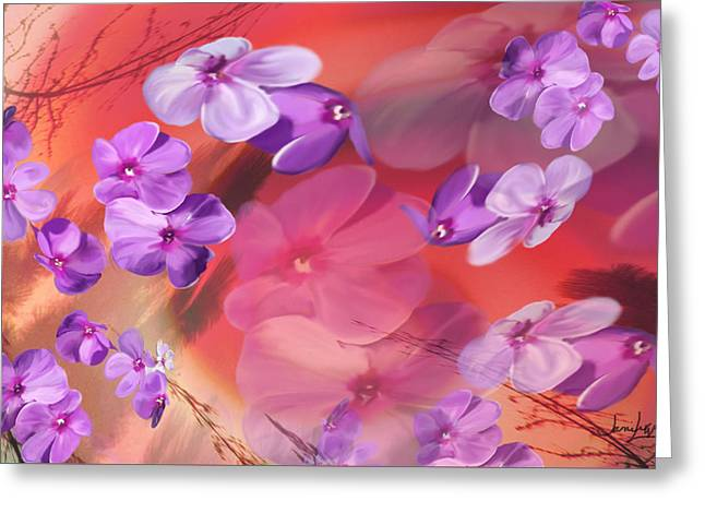Greeting Card featuring the painting Outside Inspirations by Janie Johnson