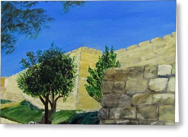 Outside The Wall - Jerusalem Greeting Card