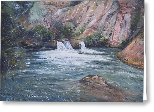 Ouzoud Waterfalls Tanaghmeilt Morocco Greeting Card by Enver Larney