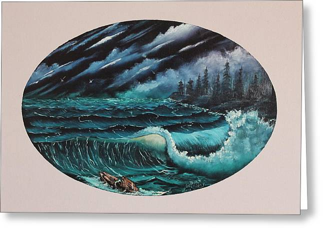 Oval Ocean View Greeting Card