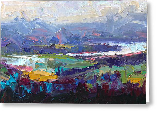 Overlook Abstract Landscape Greeting Card
