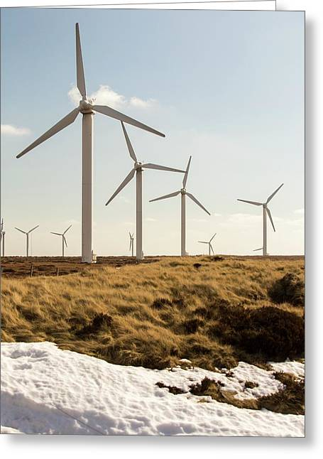 Ovenden Moor Wind Farm Greeting Card