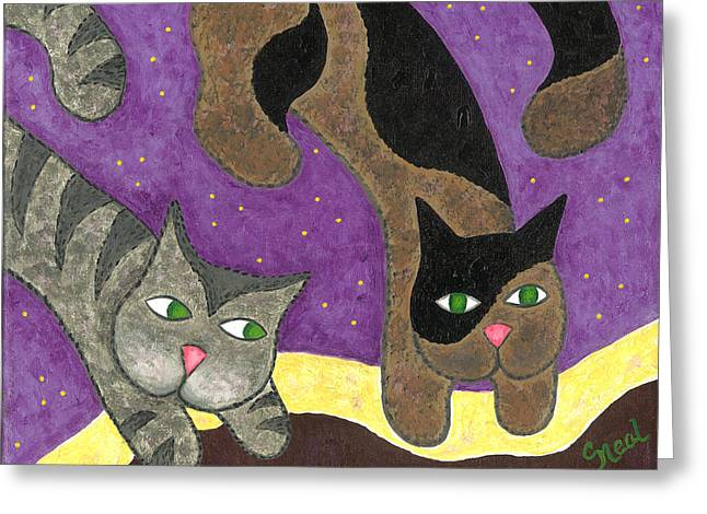 Over Cover Cats Greeting Card