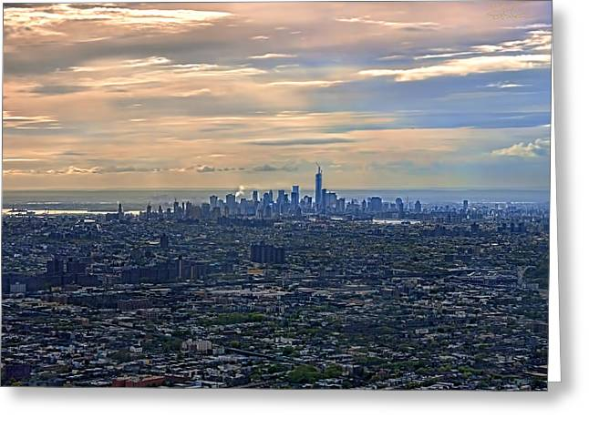 Over East New York Greeting Card