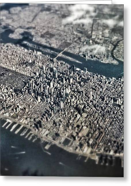 Over Nyc Greeting Card