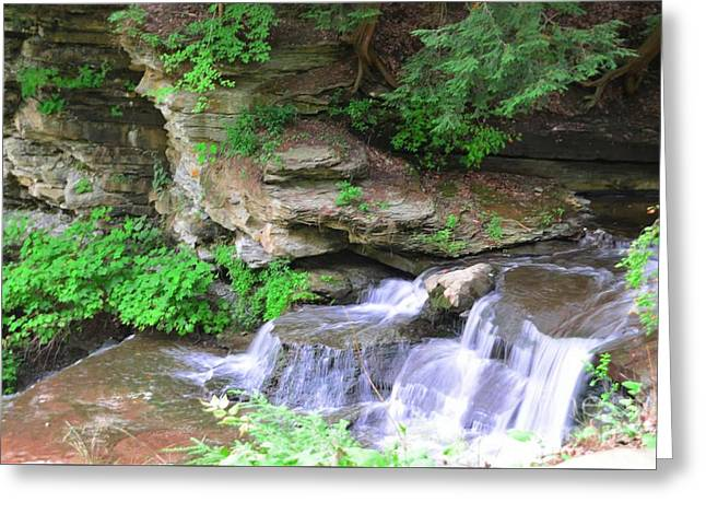 Over Rocks Greeting Card by Kathleen Struckle