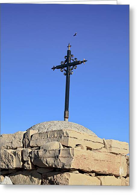 Over The Cross Greeting Card