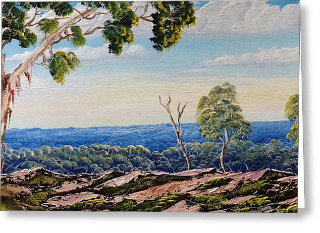 Over The Hill Greeting Card by David Belcastro