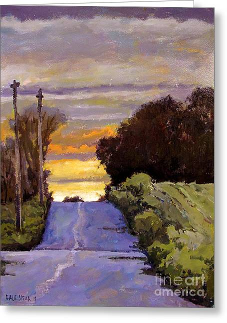 Over The Hill Sunrise Greeting Card by Charlie Spear