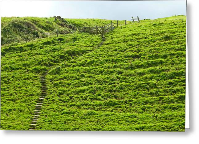 Over The Hill To Far Away Greeting Card