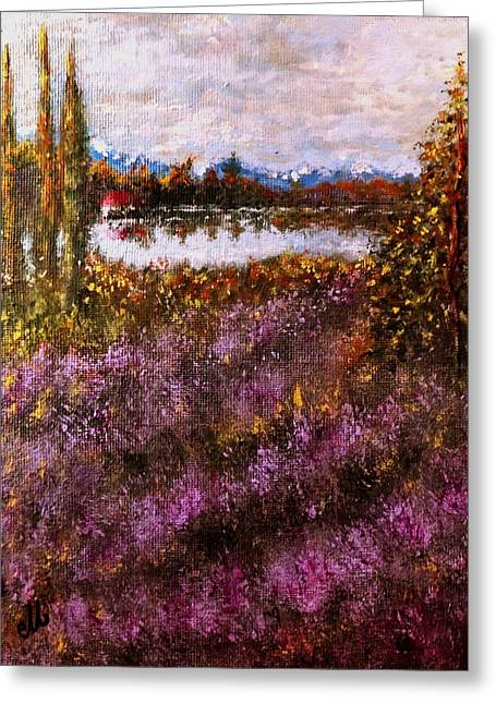 Over The Lavender Field.. Greeting Card