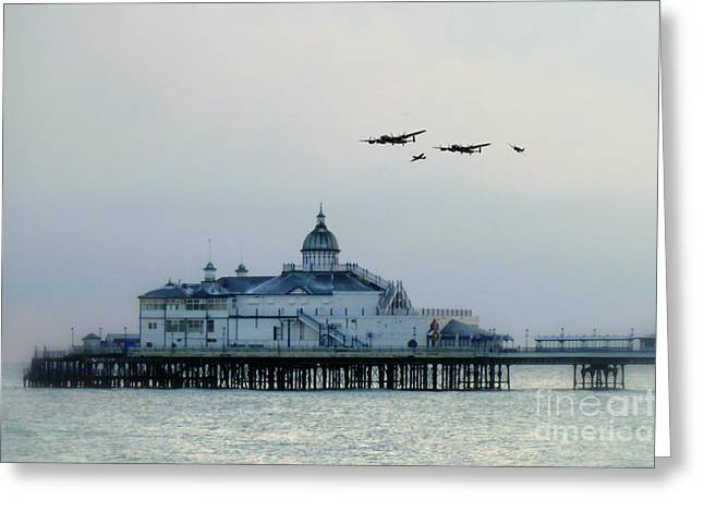 Over The Pier  Greeting Card by J Biggadike