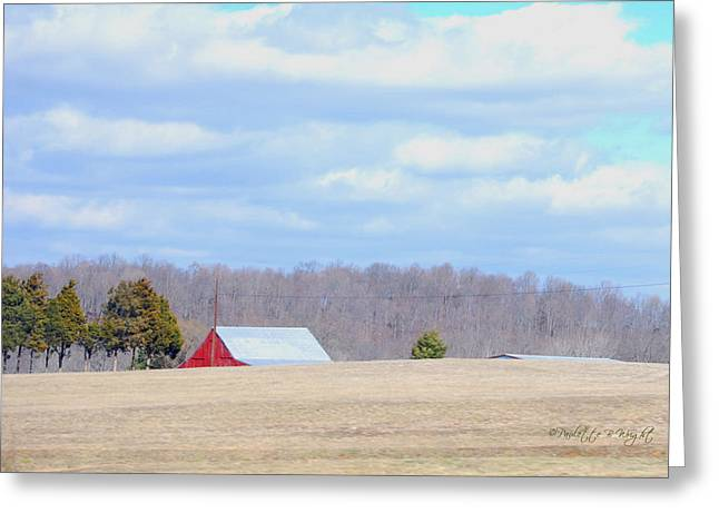 Over The Rise - Kentucky Greeting Card by Paulette B Wright