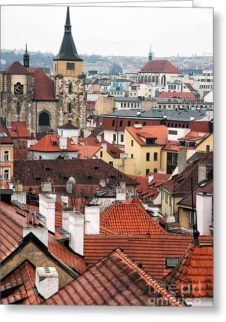 Over The Rooftops Greeting Card