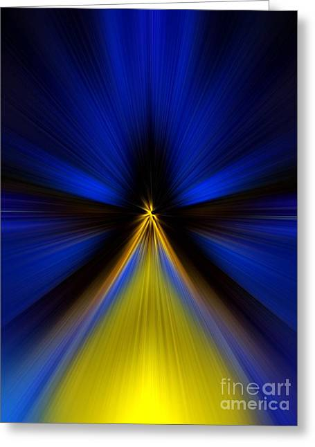 Greeting Card featuring the digital art Over Yellow by Trena Mara