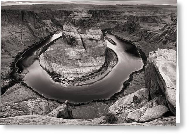 Overcast At Horseshoe Bend Greeting Card
