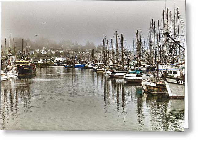 Overcast Harbour Greeting Card