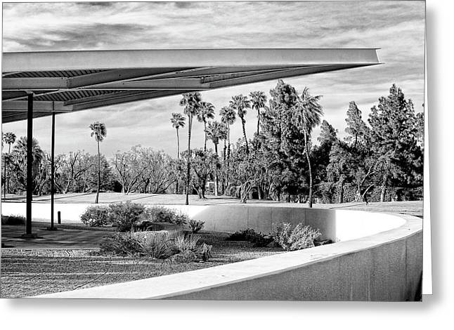 Overhang Bw Palm Springs Greeting Card