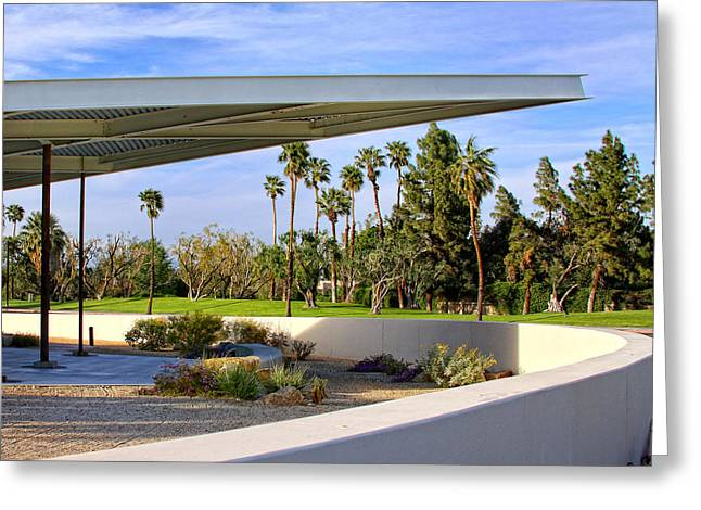 Overhang Palm Springs Tram Station Greeting Card by William Dey