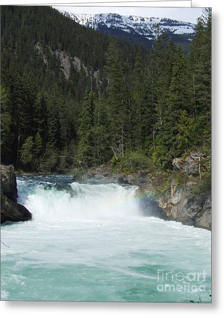 Greeting Card featuring the photograph Overlander Falls - Fraser River by Phil Banks