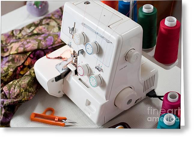 Overlock Sewing Machine Greeting Card