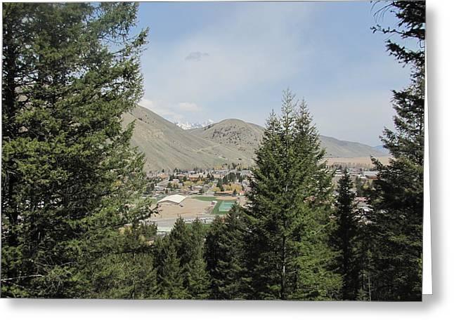 Overlook Of Jackson Hole Greeting Card