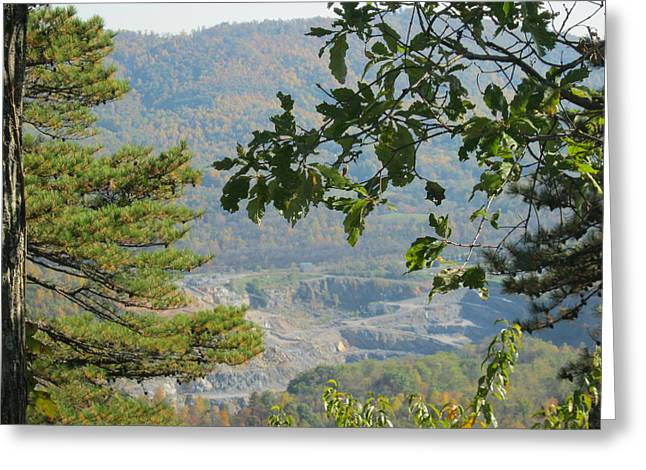Overlooking An Old Quarry Greeting Card by Sarah Manspile