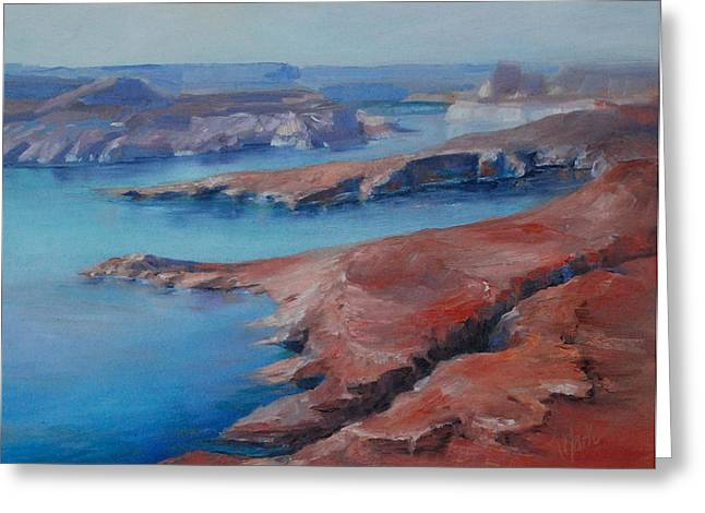 Overlooking Lake Powell Greeting Card by Donna Pierce-Clark