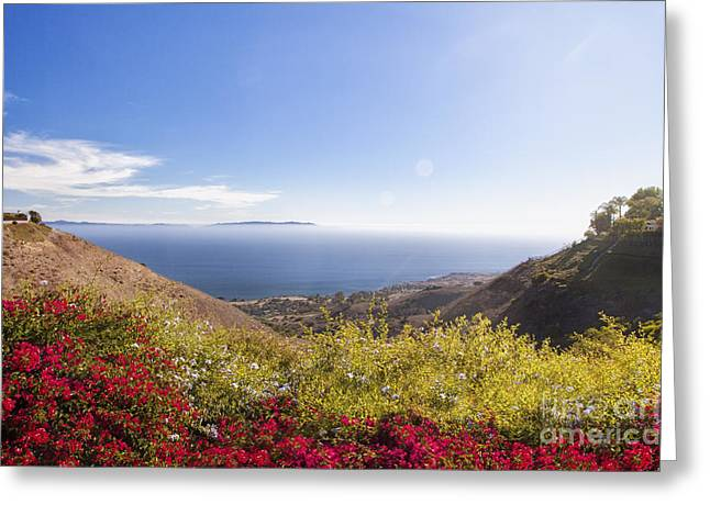 Overlooking Palos Verdes Estates Greeting Card