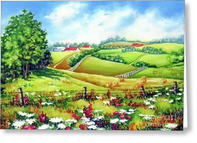 Overlooking The Meadow Greeting Card