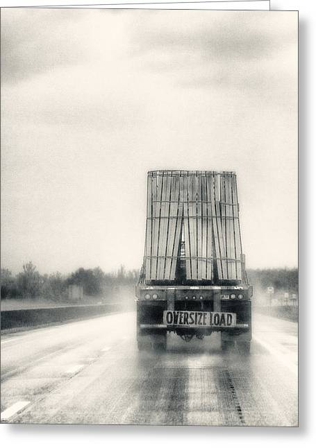 Oversized Load Greeting Card by Robert  FERD Frank