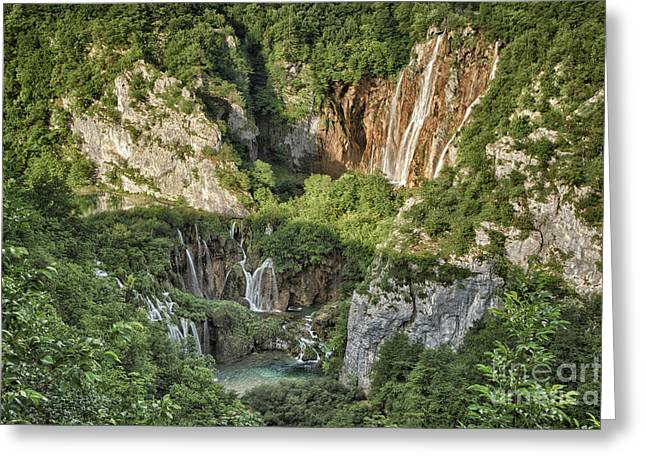 Overview Of Plitvice Greeting Card