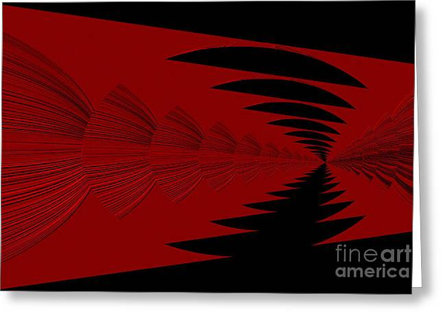 Red And Black Design Greeting Card