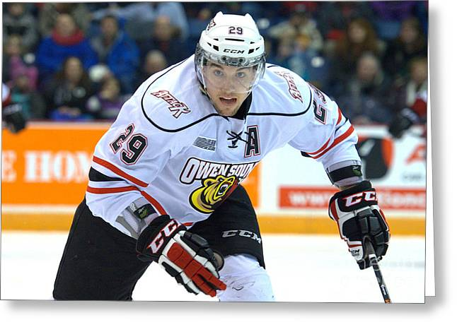 Owen Sound Attack Greeting Card by Rob Andrus