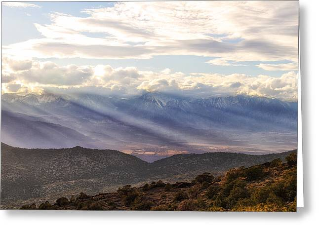 Owens Valley Sunset Greeting Card