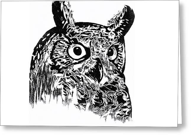 Owl 002 Greeting Card