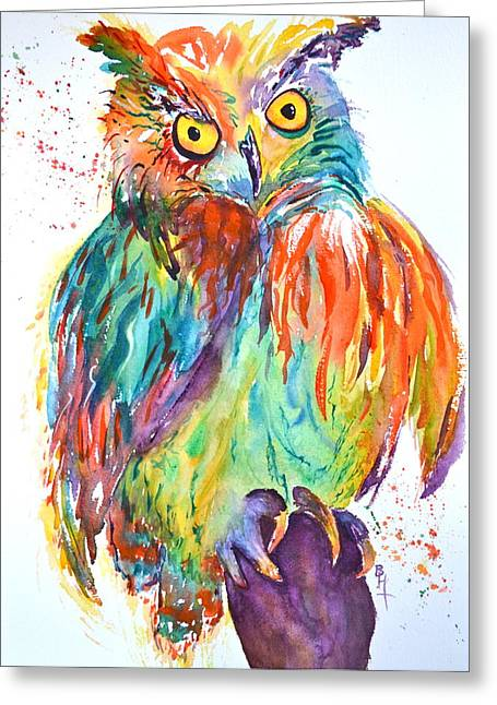 Owl Be Seeing You Greeting Card by Beverley Harper Tinsley