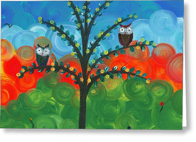 Owl Couples - 01 Greeting Card