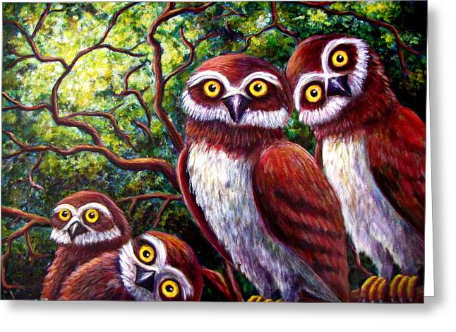 Owl Family Greeting Card