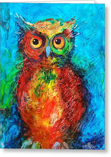 Owl In The Night Greeting Card