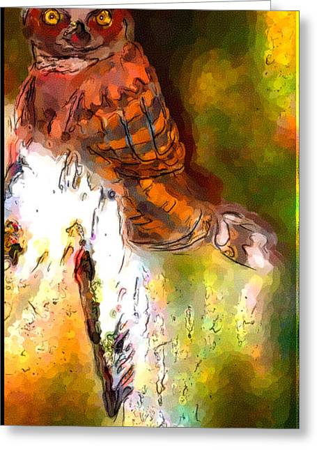 Owl In The Woods Greeting Card