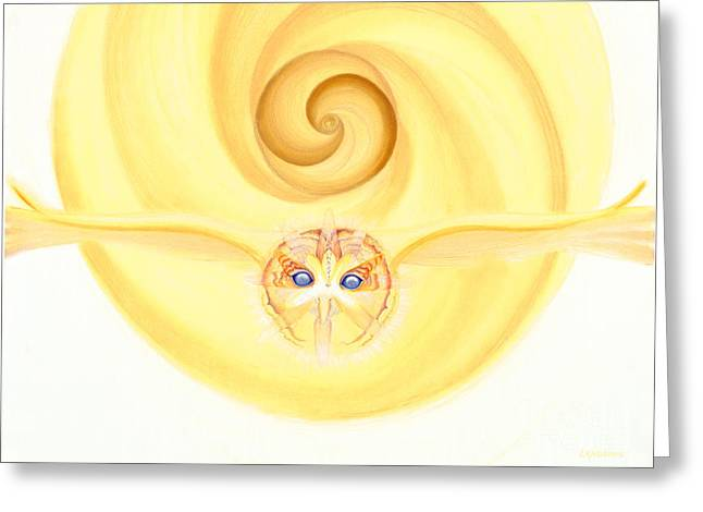 Owl Looking Into The Divine Greeting Card