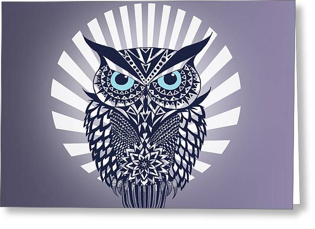 Owl Greeting Card by Mark Ashkenazi